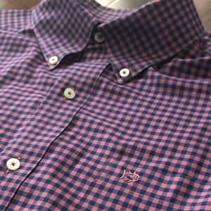 Southern Tide Classic Gingham Checkered Shirt L